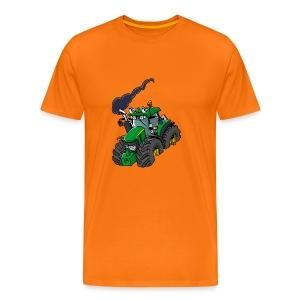 GREEN TRACTOR - Mannen Premium T-shirt