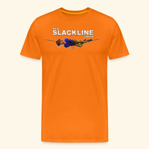 New slackline trick - crazy slackliner - Men's Premium T-Shirt