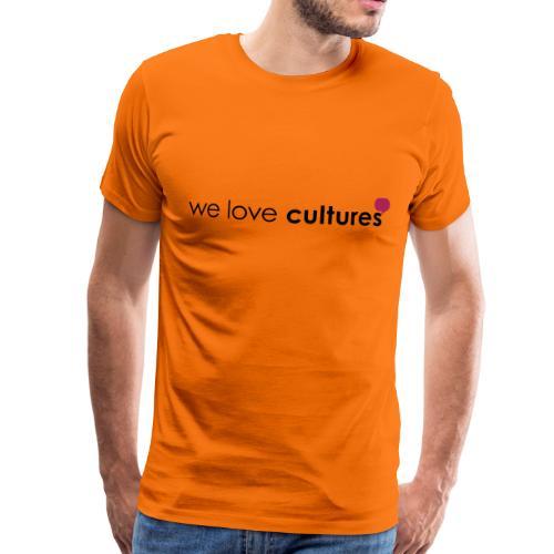 we love cultures - grau und magenta - Männer Premium T-Shirt