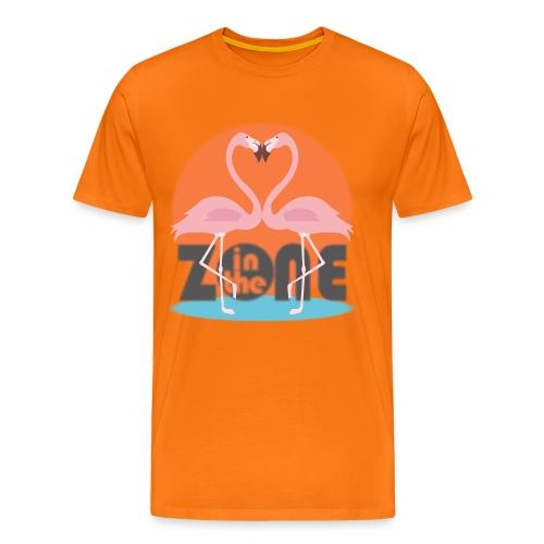In the Zone Flamingos - Camiseta premium hombre