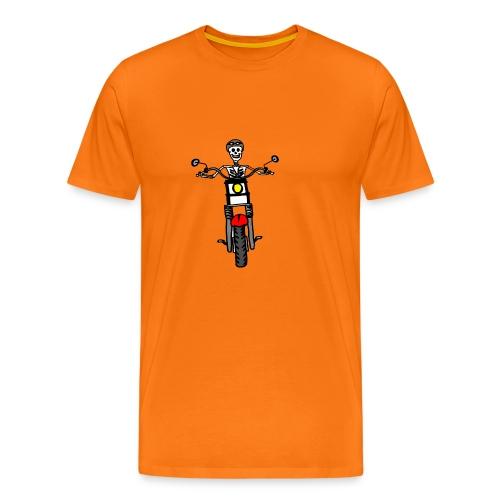 calavera moto - Camiseta premium hombre