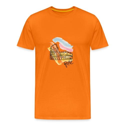 Roma Colosseo disegno - Maglietta Premium da uomo