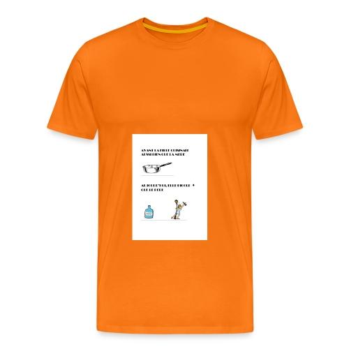 AVANT LA FILLE CUISINAIT AUSSI BIEN QUE LA MERE - T-shirt Premium Homme