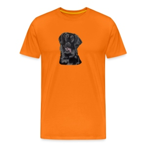 flatcoated retriever p - Herre premium T-shirt