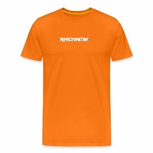 nephilimination logo white - Mannen Premium T-shirt