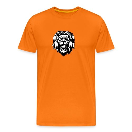 00 lion head black vector - Men's Premium T-Shirt