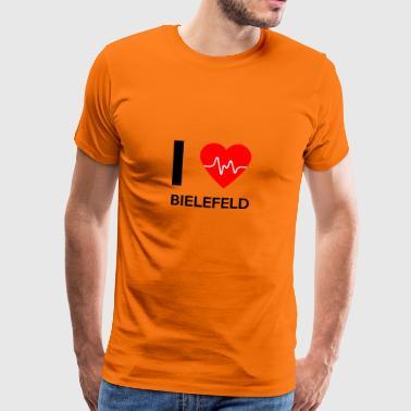 Jag älskar Bielefeld - Jag älskar Bielefeld - Premium-T-shirt herr