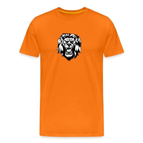 00 lion head black vector - Men's Premium T-Shirt
