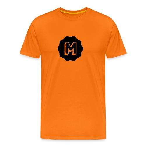 Messiosen symbol sort - Premium T-skjorte for menn