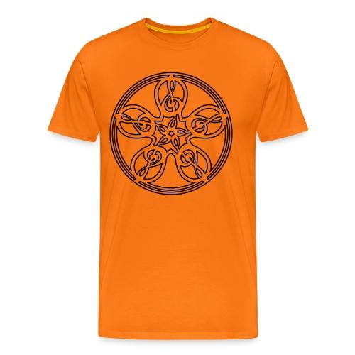 CELTIC CLEF MANDALA (black outline) - Men's Premium T-Shirt