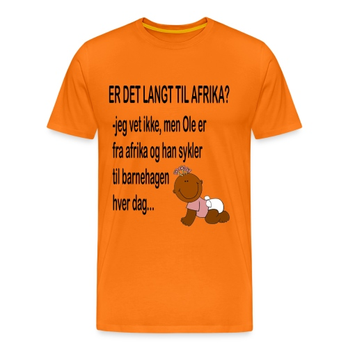 Barnehagen: Er det langt til Afrika? - Premium T-skjorte for menn