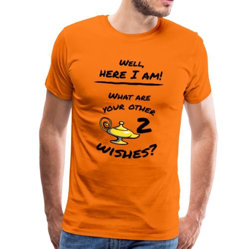 Wunderlampe 3 Wünsche Lustiges Spruch Shirt - Männer Premium T-Shirt