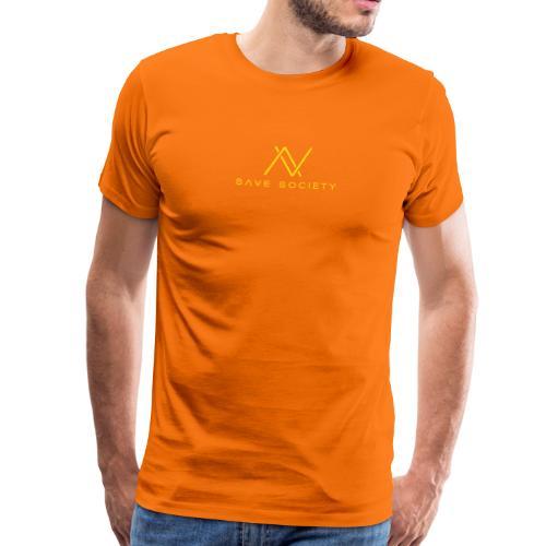save society gelb - Männer Premium T-Shirt