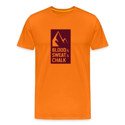 Blood & Sweat & Chalk – Geschenkidee klettern - Männer Premium T-Shirt