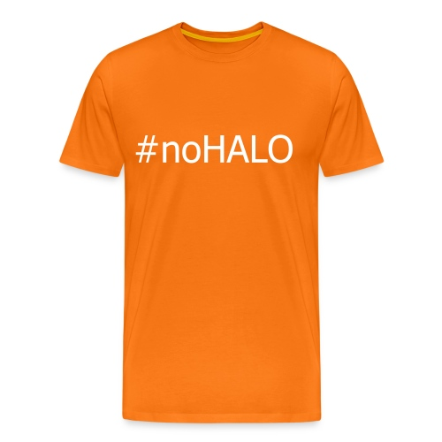 #noHALO white - Men's Premium T-Shirt