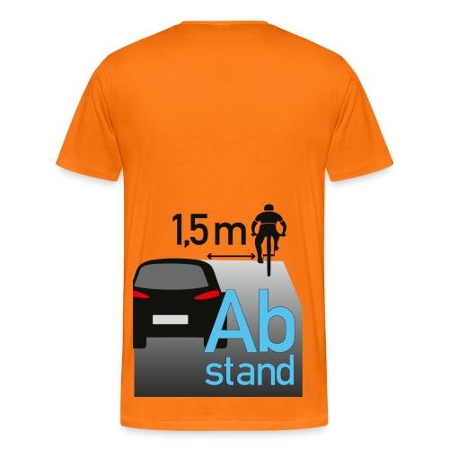 Auto zu Radfahrer - Abstand halten mind. 1,5m - Männer Premium T-Shirt