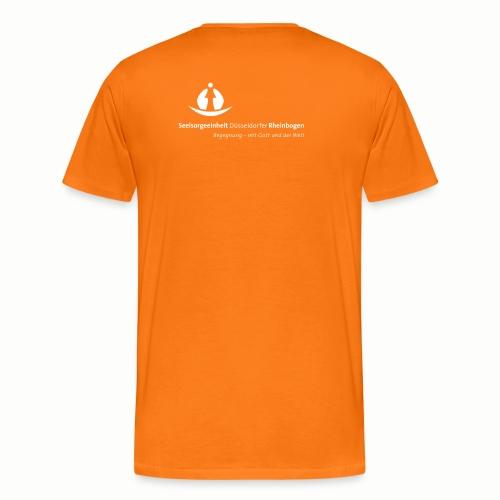 SDR LogoClaim l 1c weiss - Männer Premium T-Shirt