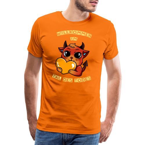 Willkommen im Tal des Todes Gelb - Männer Premium T-Shirt