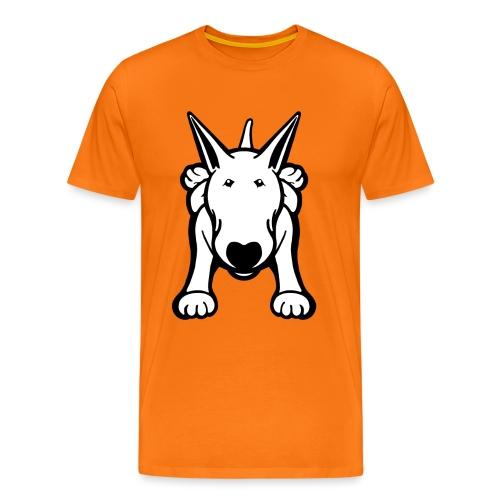 Bull Terrier Sprawl Design Tee - Men's Premium T-Shirt