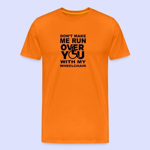Rolstoel humor 001 - Mannen Premium T-shirt