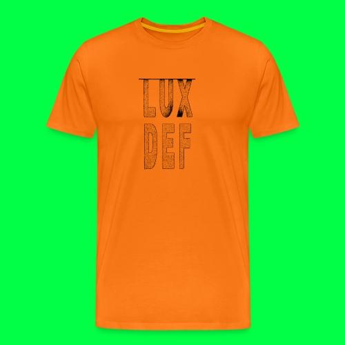lux def: graphic brand logo design grafikdesign - Männer Premium T-Shirt