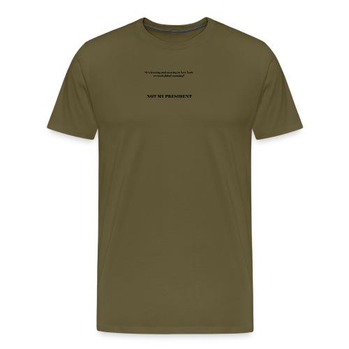 NotMyPresident_4 - Maglietta Premium da uomo