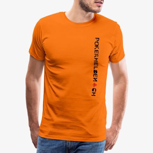 Pokerhelden Logo Schwarz - Männer Premium T-Shirt