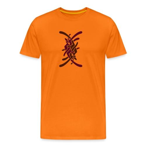 Stort logo på bryst - Herre premium T-shirt