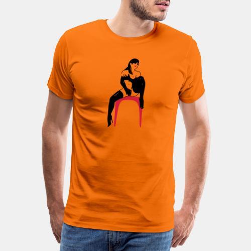 girl masterbate 2 color - Männer Premium T-Shirt
