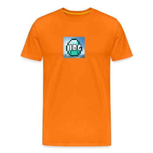 Oranje T-shirt met logo JoramDijkGames - Mannen Premium T-shirt
