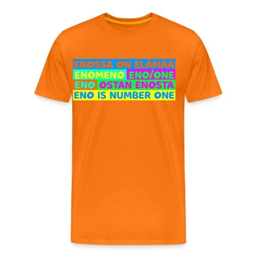 Enovärikäs Extremevoimalause - Miesten premium t-paita