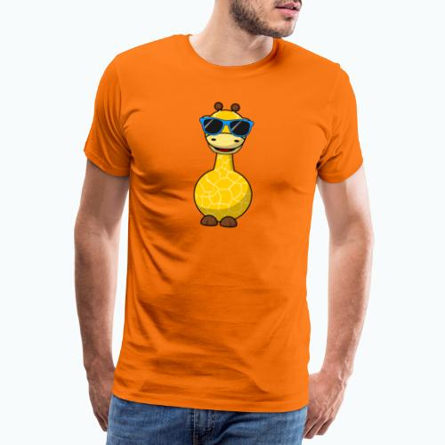 Gigi Giraffe with sunglasses - Appelsin - Premium-T-shirt herr