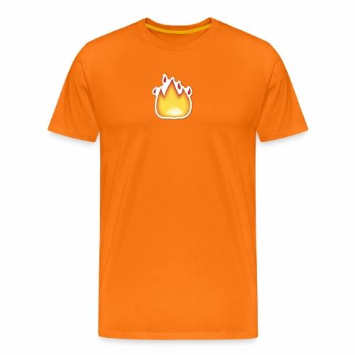 Liekkikuviollinen vaate - Miesten premium t-paita