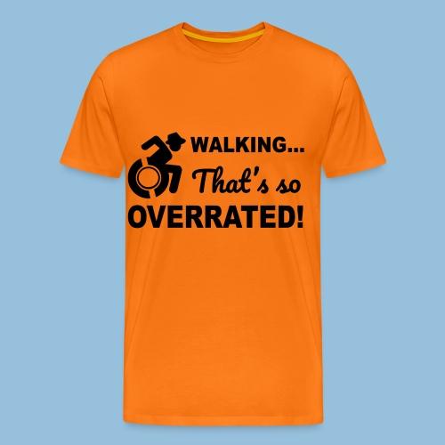 Walkingoverrated2 - Mannen Premium T-shirt