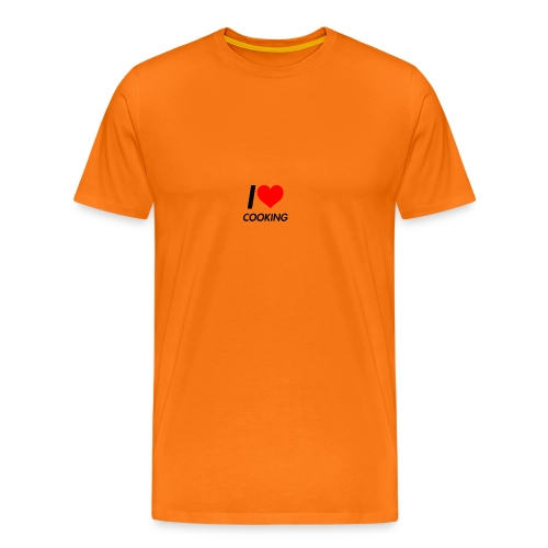 I LOVE COOKING - Mannen Premium T-shirt