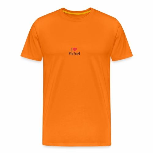 Michael designstyle i love Michael - Men's Premium T-Shirt