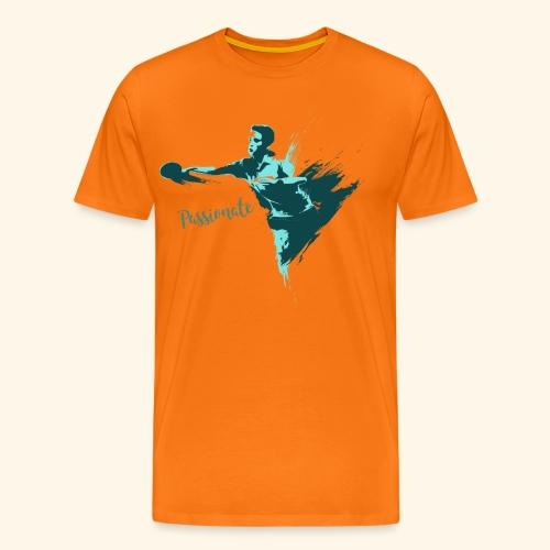 Passionate on winning table tennis champ - Männer Premium T-Shirt
