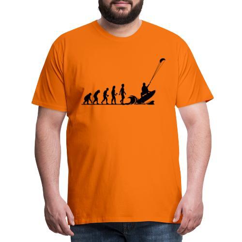 Die Evolution zum Kitesurfer - Männer Premium T-Shirt