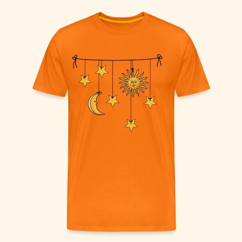 Sonne Mond und Sterne - Männer Premium T-Shirt
