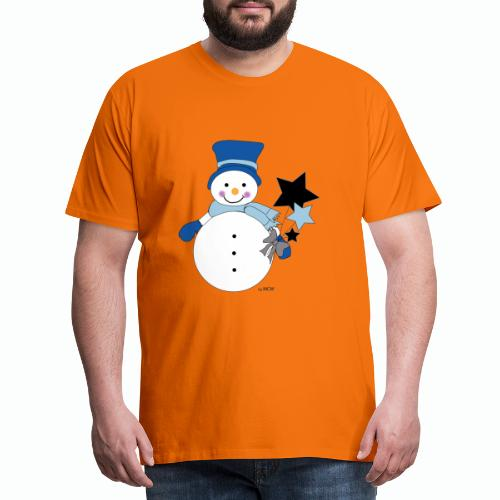 Snowtime-Blue - Männer Premium T-Shirt