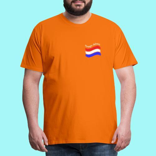 Oranje Boven TWEEZIJDIG bedrukt - Mannen Premium T-shirt