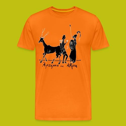 Artemisa y Atenea - Camiseta premium hombre