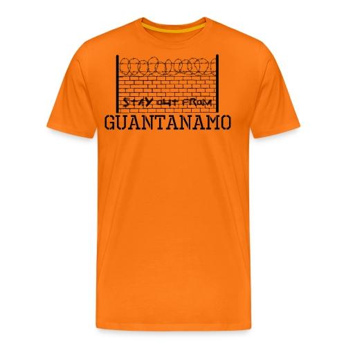 Stay out from Guantanamo - Maglietta Premium da uomo
