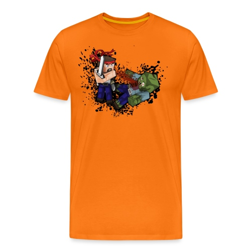 Hero vs Zombie - Men's Premium T-Shirt