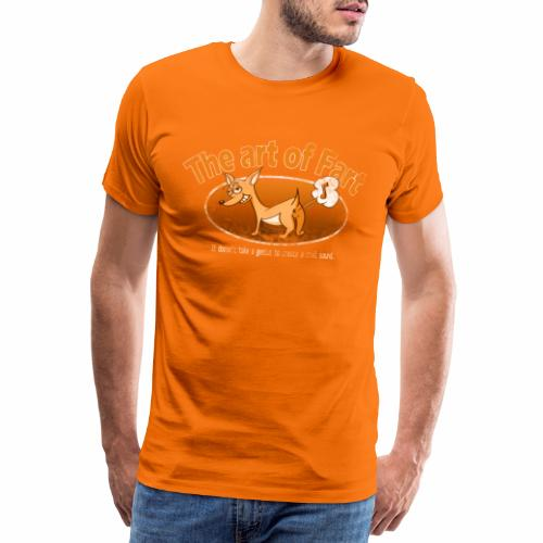 Farting Dog Retro Orange - Mannen Premium T-shirt