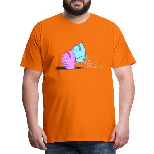 Maskenpaar - Männer Premium T-Shirt
