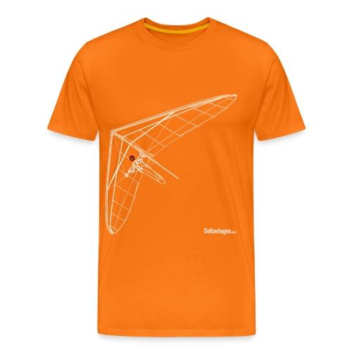 Deltavleugel Joost wit - Mannen Premium T-shirt