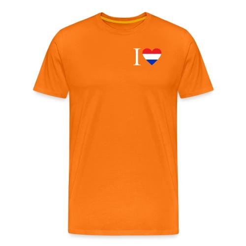 Ik hou van Nederland | Hart met rood wit blauw - Mannen Premium T-shirt