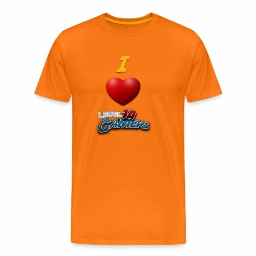 I love Level10Gamers - Premium T-skjorte for menn