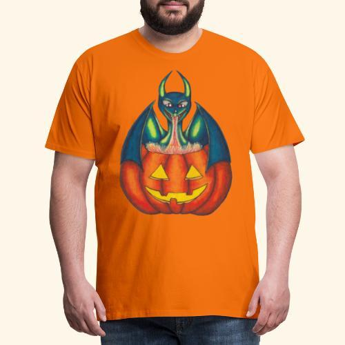 Drake med pumpa - Premium-T-shirt herr